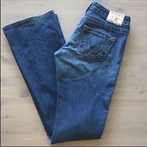 True Religion Low Rise Flare Jeans 26